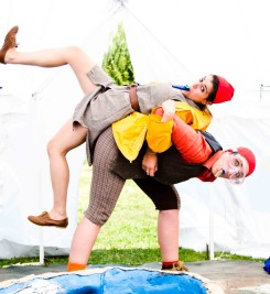 Arnold's Big Adventure by Tessa Bide at the Small Things Festival, Dorset in August 2014. Photography by Kai Taylor.