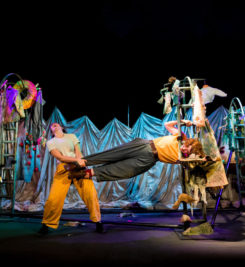 'The Selfish Giant', a co-production with Soap Soup Theatre, toured the UK 2018-19. Photography by Paul Blakemore