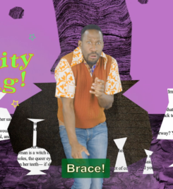 Screenshot of the Witch's Kitchen adventure featuring David Ellington.